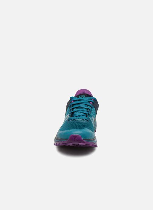 Chaussures de sport Salomon TRAILSTER GTX® W Bleu vue portées chaussures