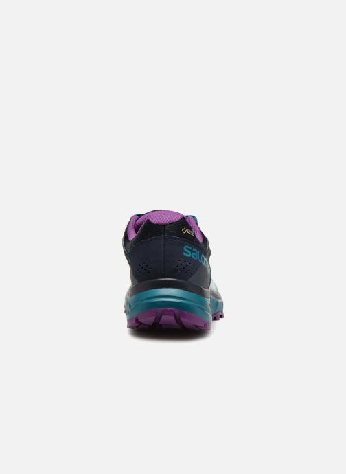 Chaussures de sport Salomon TRAILSTER GTX® W Bleu vue droite