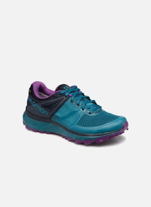 Sportssko Salomon TRAILSTER GTX® W Blå detaljeret billede af skoene