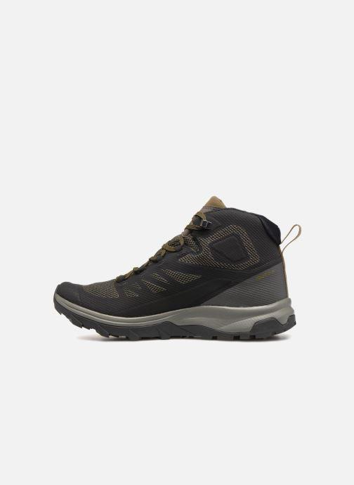Chaussures de sport Salomon OUTline Mid GTX® Noir vue face