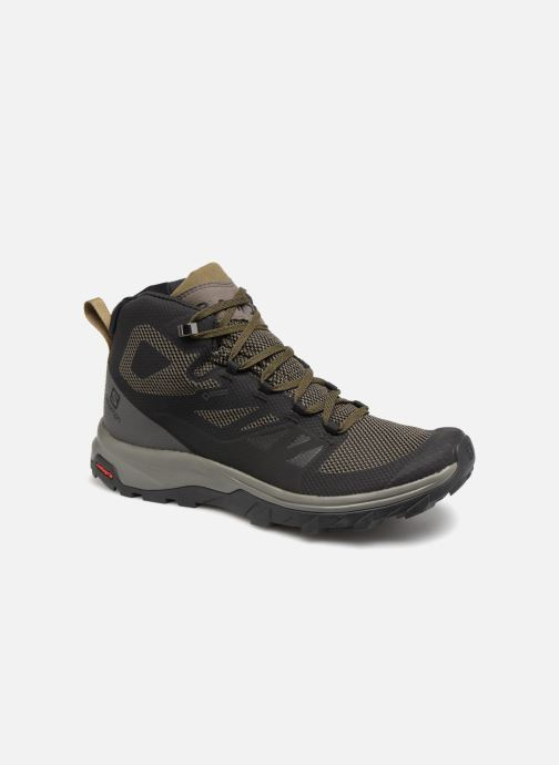 Chaussures de sport Salomon OUTline Mid GTX® Noir vue détail/paire