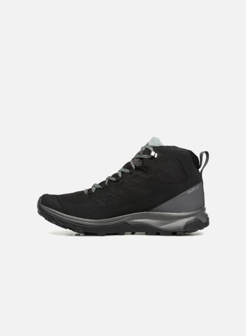 Zapatillas de deporte Salomon OUTline Mid GTX® W Negro vista de frente
