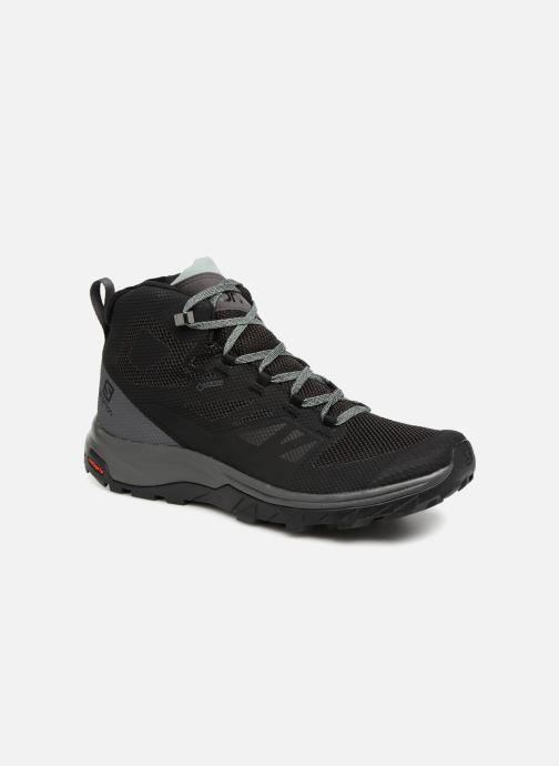 Chaussures de sport Salomon OUTline Mid GTX® W Noir vue détail/paire