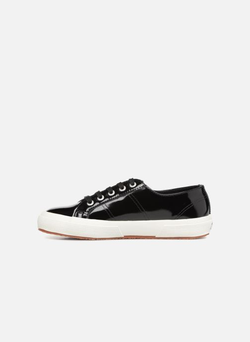 Baskets Superga 2750 Lea Patent W Noir vue face