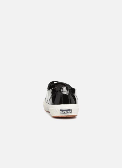Deportivas Superga 2750 Lea Patent W Negro vista lateral derecha