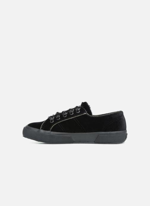 Sneaker Superga 2750 Velvet Chenille Cofur Glitter W schwarz ansicht von vorne