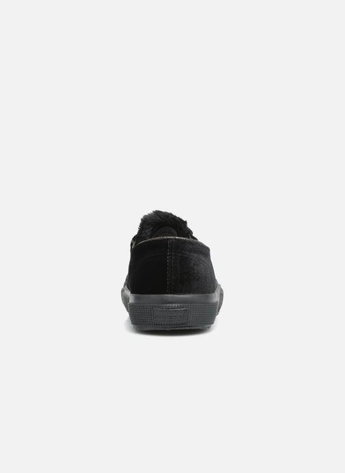 Baskets Superga 2750 Velvet Chenille Cofur Glitter W Noir vue droite