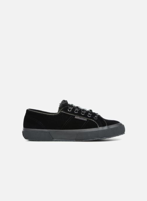 Sneakers Superga 2750 Velvet Chenille Cofur Glitter W Zwart achterkant