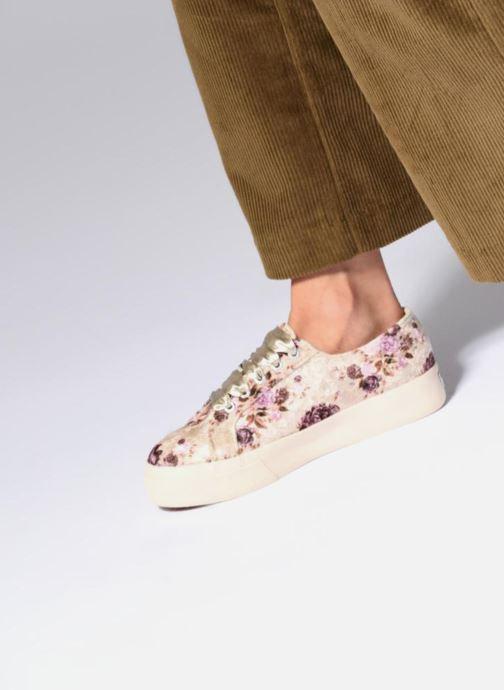 Sneakers Superga 2730 Velvet Shiny Wrinkled Flo Beige onder