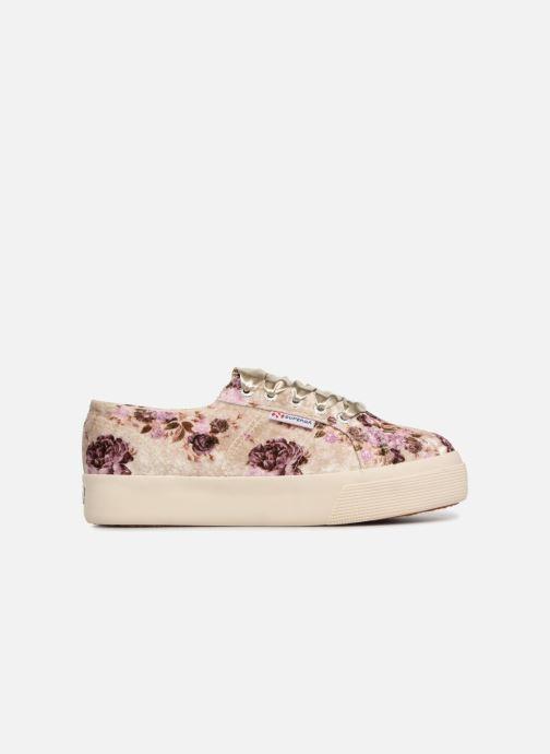 Sneakers Superga 2730 Velvet Shiny Wrinkled Flo Beige achterkant