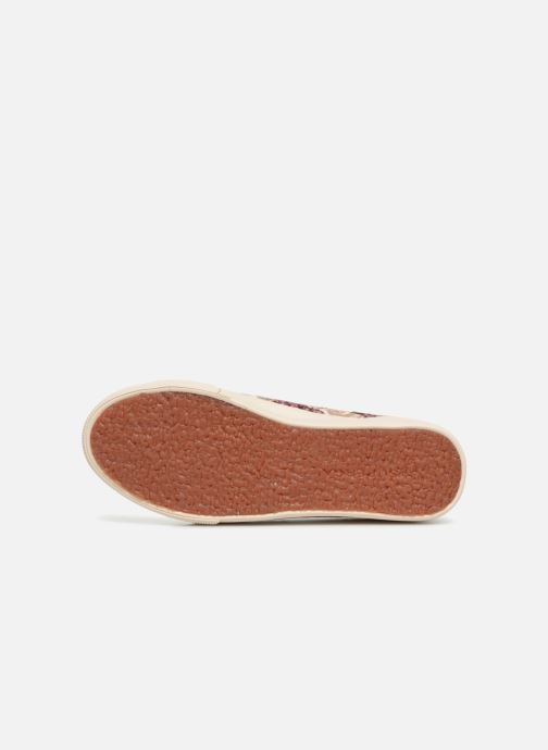 Sneakers Superga 2730 Velvet Shiny Wrinkled Flo Beige boven