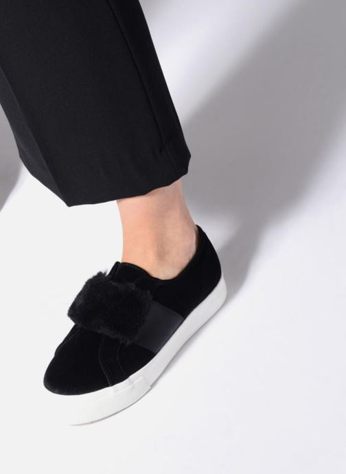 Sneaker Superga 2730 Velvet Chenille Strap  Cofur W schwarz ansicht von unten / tasche getragen