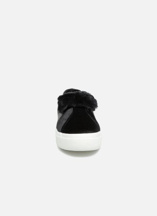 Baskets Superga 2730 Velvet Chenille Strap  Cofur W Noir vue portées chaussures