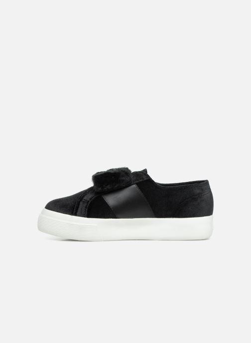 Sneakers Superga 2730 Velvet Chenille Strap  Cofur W Zwart voorkant