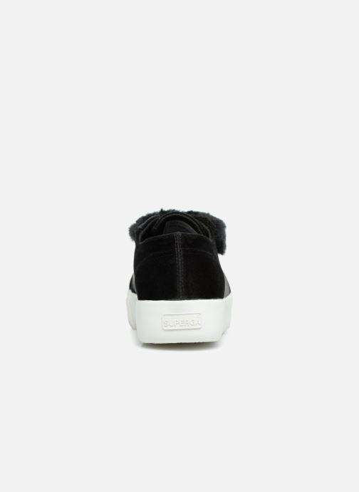 Sneakers Superga 2730 Velvet Chenille Strap  Cofur W Zwart rechts