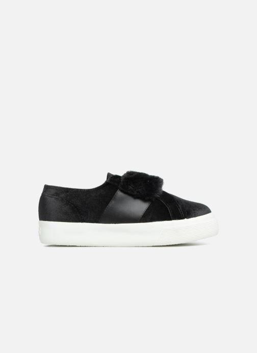 Sneakers Superga 2730 Velvet Chenille Strap  Cofur W Zwart achterkant