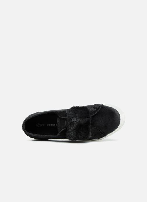 Sneaker Superga 2730 Velvet Chenille Strap  Cofur W schwarz ansicht von links