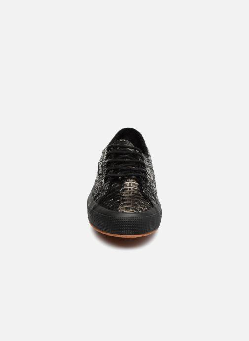 Sneaker Superga 2750 Syn Brushed Snake W schwarz schuhe getragen
