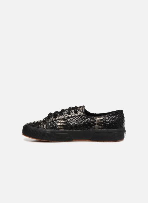 Sneaker Superga 2750 Syn Brushed Snake W schwarz ansicht von vorne