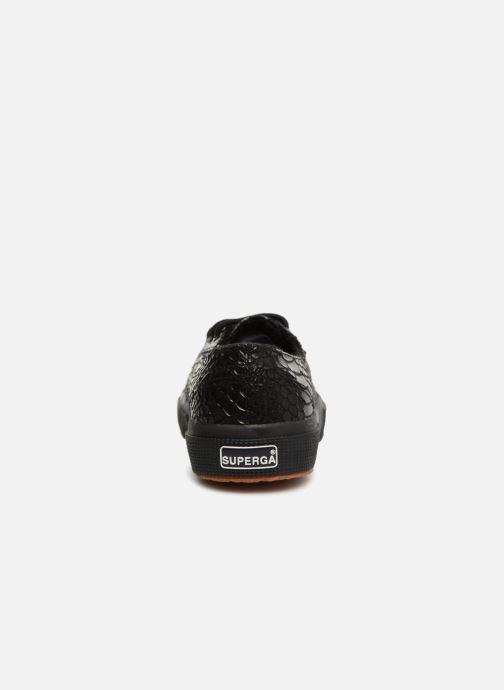 Sneaker Superga 2750 Syn Brushed Snake W schwarz ansicht von rechts