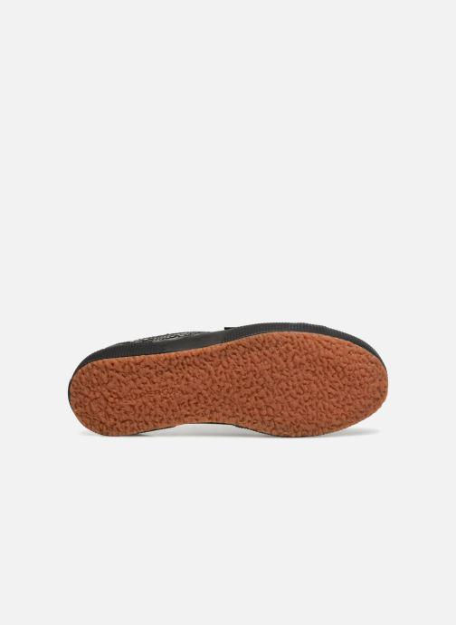 Sneaker Superga 2750 Syn Brushed Snake W schwarz ansicht von oben