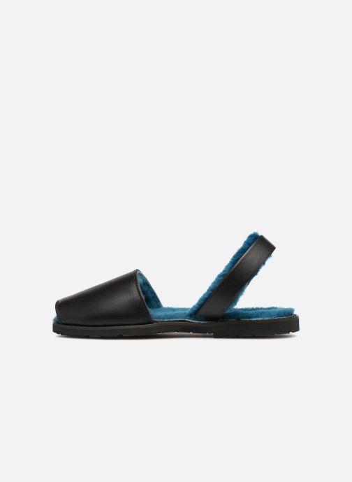 Sandales et nu-pieds Minorquines Mouton Samsø Bleu Noir vue face