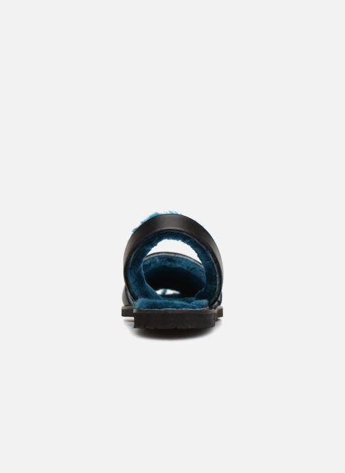Sandalias MINORQUINES Mouton Samsø Bleu Negro vista lateral derecha