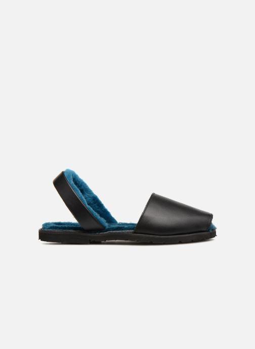 Sandales et nu-pieds MINORQUINES Mouton Samsø Bleu Noir vue derrière