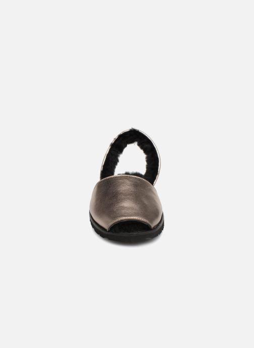 Sandales et nu-pieds MINORQUINES Métal Kiel Acier Argent vue portées chaussures
