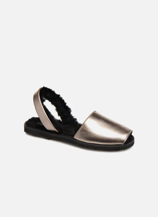 Sandales et nu-pieds MINORQUINES Métal Kiel Acier Argent vue détail/paire