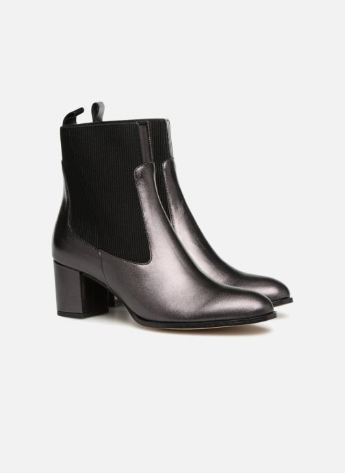 By Noir Boots Bottines Et à Made Busy Cuir Sarenza Girl Talons3 Métalisé kuXOPZiT