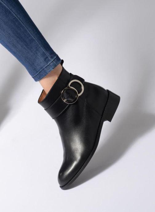 Bottines et boots Made by SARENZA Busy Girl Bottines Plates #2 Noir vue bas / vue portée sac