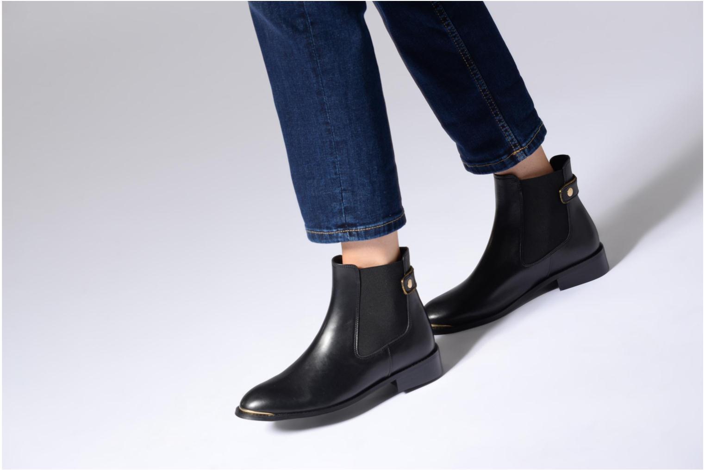 Bottines et boots Made by SARENZA Busy Girl Bottines Plates #3 Noir vue bas / vue portée sac