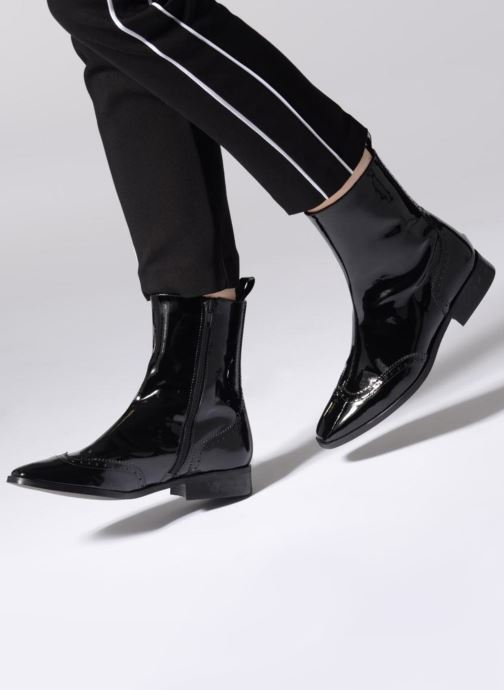 Ankle boots Made by SARENZA Retro Dandy Boots #6 Black view from underneath / model view