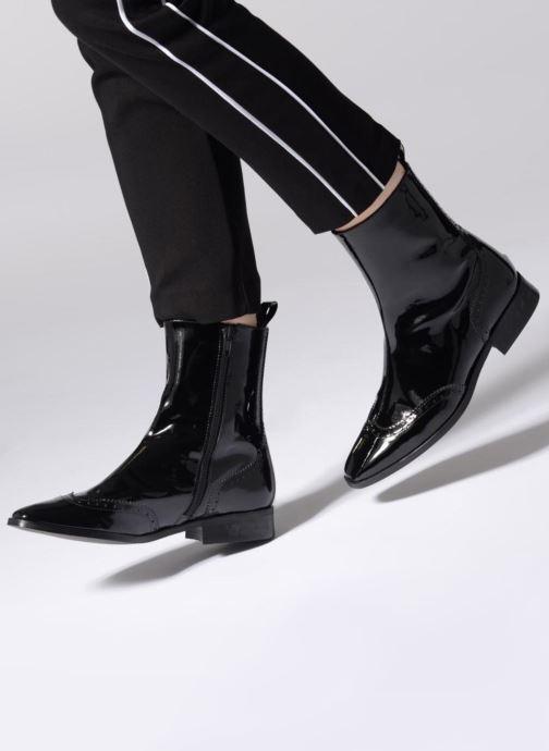 Bottines et boots Made by SARENZA Retro Dandy Boots #6 Noir vue bas / vue portée sac