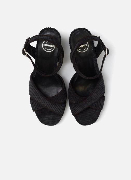 Sandales et nu-pieds Made by SARENZA Toundra Girl Sandales #1 Noir vue portées chaussures