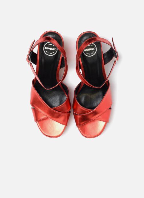 Sandales et nu-pieds Made by SARENZA Toundra Girl Sandales #1 Rouge vue portées chaussures