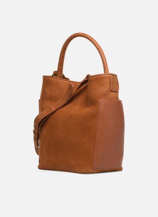 Handtaschen Nat & Nin Seventine braun ansicht von rechts
