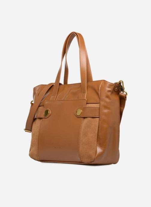 Handtaschen Nat & Nin Dolores braun schuhe getragen