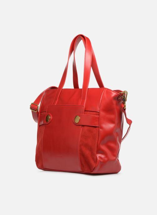 Handtaschen Nat & Nin Dolores rot schuhe getragen