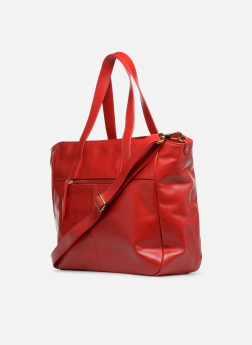 Handtaschen Nat & Nin Dolores rot ansicht von rechts