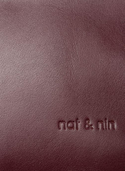 Handtaschen Nat & Nin Michelle weinrot ansicht von links