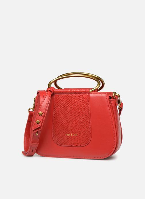 Handtaschen Nat & Nin Nancy rot schuhe getragen