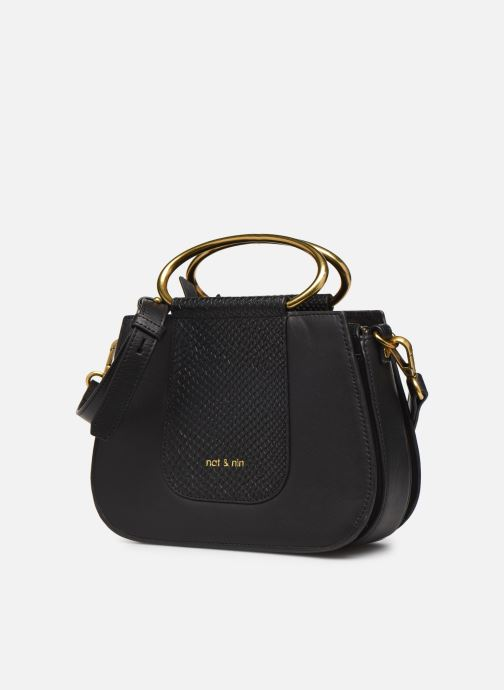 Handtaschen Nat & Nin Nancy schwarz schuhe getragen