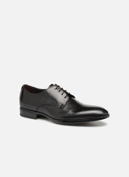 Snøresko Giorgio1958 GENARO Sort detaljeret billede af skoene