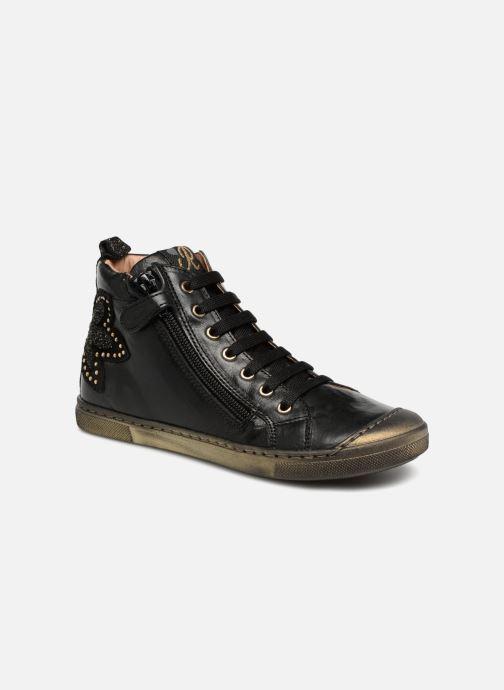 Sneakers Romagnoli Flora Zwart detail
