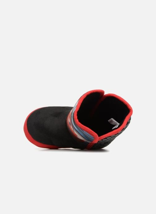 Slippers Cars Solution Black view from the left