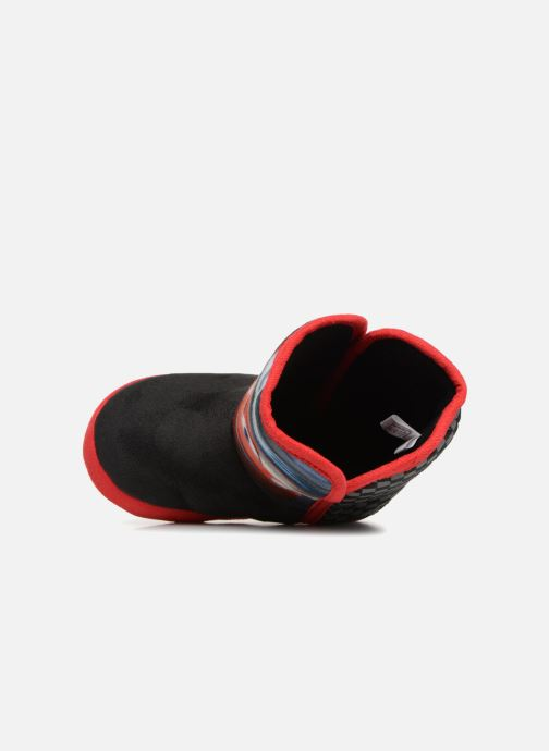 Pantuflas Cars Solution Negro vista lateral izquierda