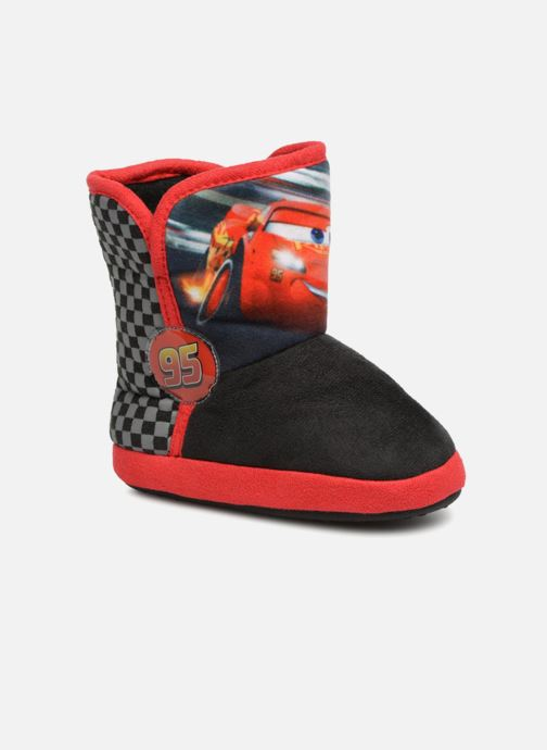 Slippers Cars Solution Black detailed view/ Pair view