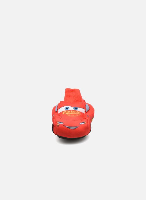 Chaussons Cars Sabazan Rouge vue portées chaussures